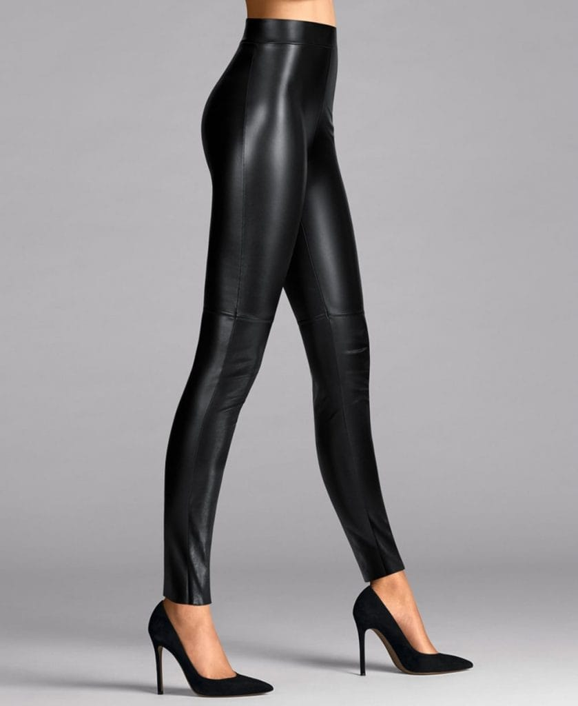 what to wear on a winter night out leggings faux leather