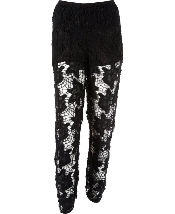 Christies Black Crochet Trousers