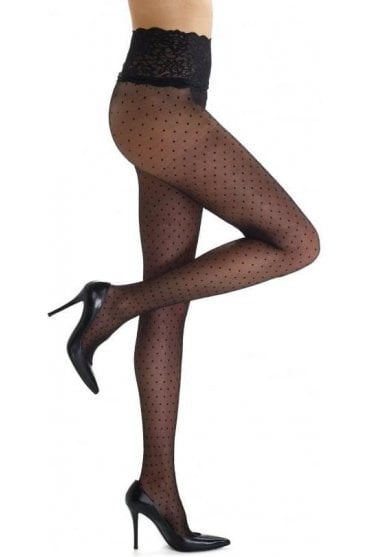 Chic Dot Lace Panty Tights