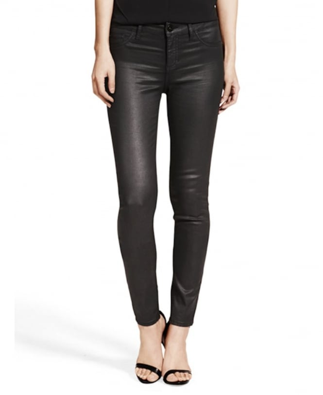 DL1961 Florence Sculpting Skinny Jean Leather Look