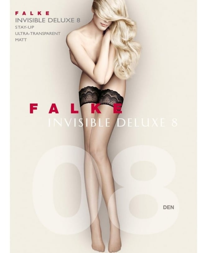 Falke Invisible Deluxe 8 Denier Stay-Ups with Lace band
