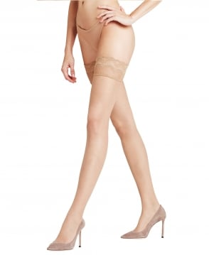 f16ce4cef Falke Lunelle 8 Denier Peacock Lace Top Stay-Ups - Hold-Ups from ...