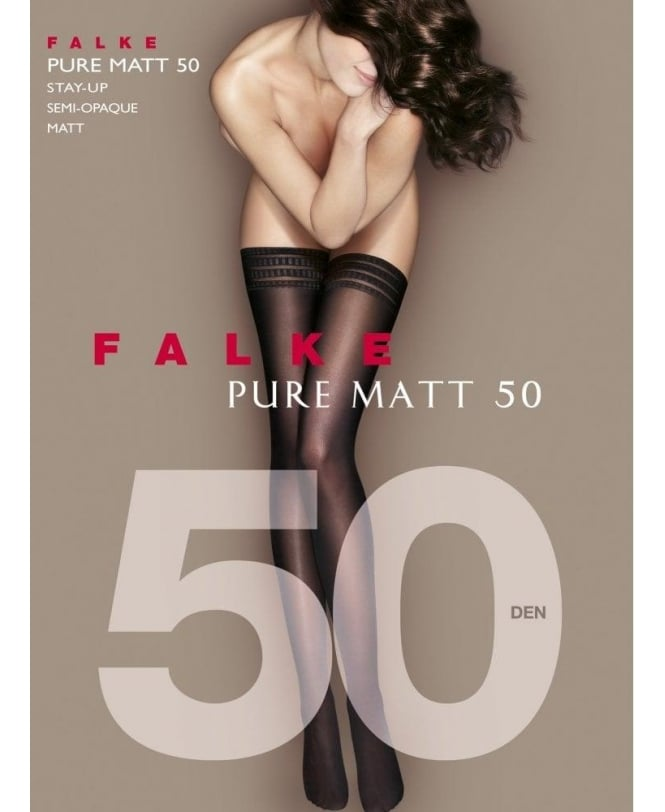 Falke Pure Matte 50 Denier Stay-Ups