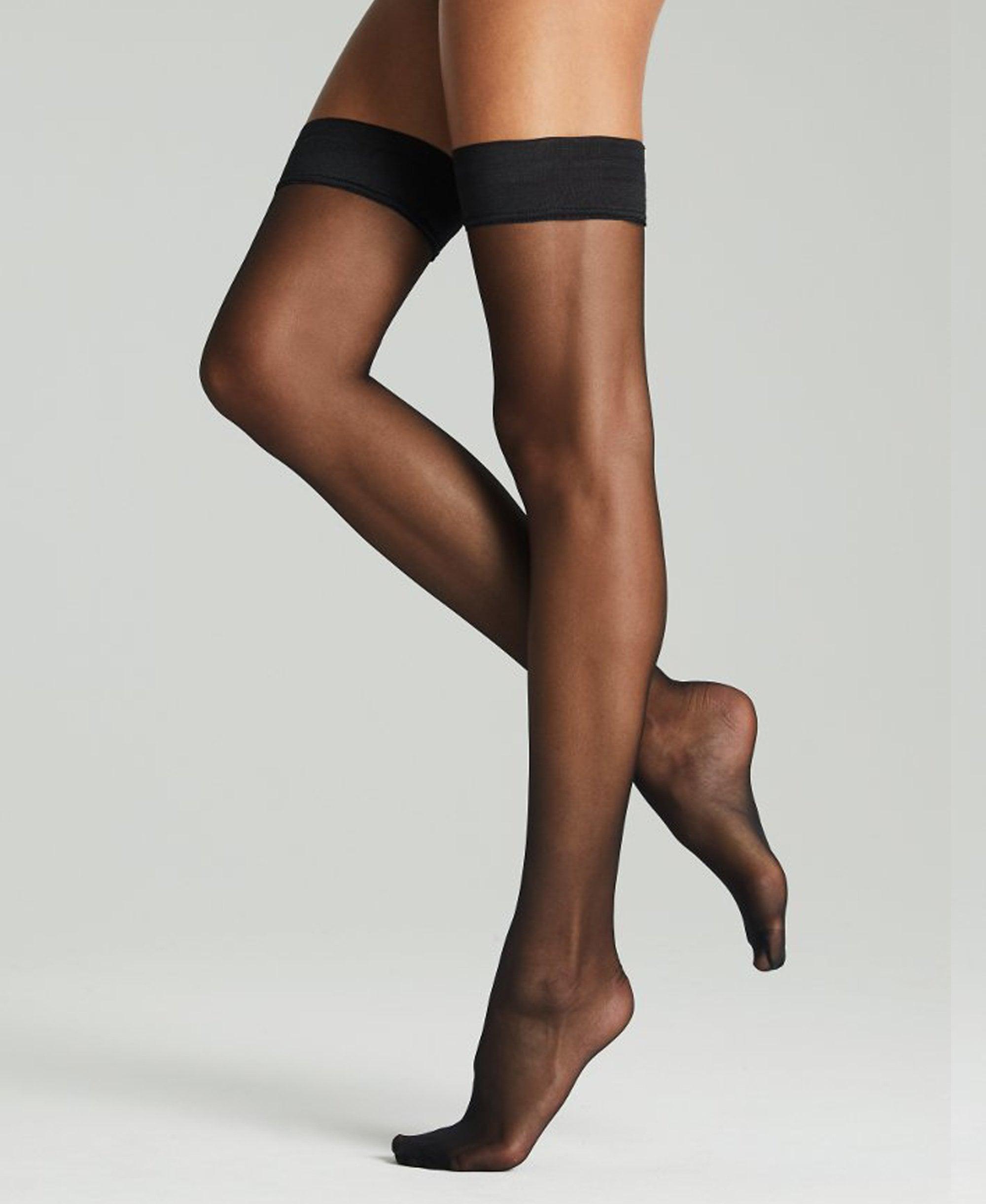 Women/'s Fogal Nude Black Navy Grey Catwalk 10 Denier Spandex Yarn Tights