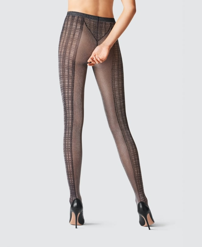 Fogal Gaia Check Lurex Tights
