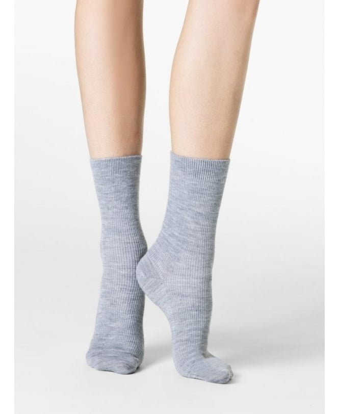 Fogal Nepal Wool, Silk & Cashmere Ribbed Ankle Socks