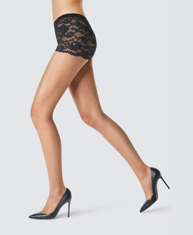 Fogal Noblesse Ultra Sheer Tights with Lace Panty