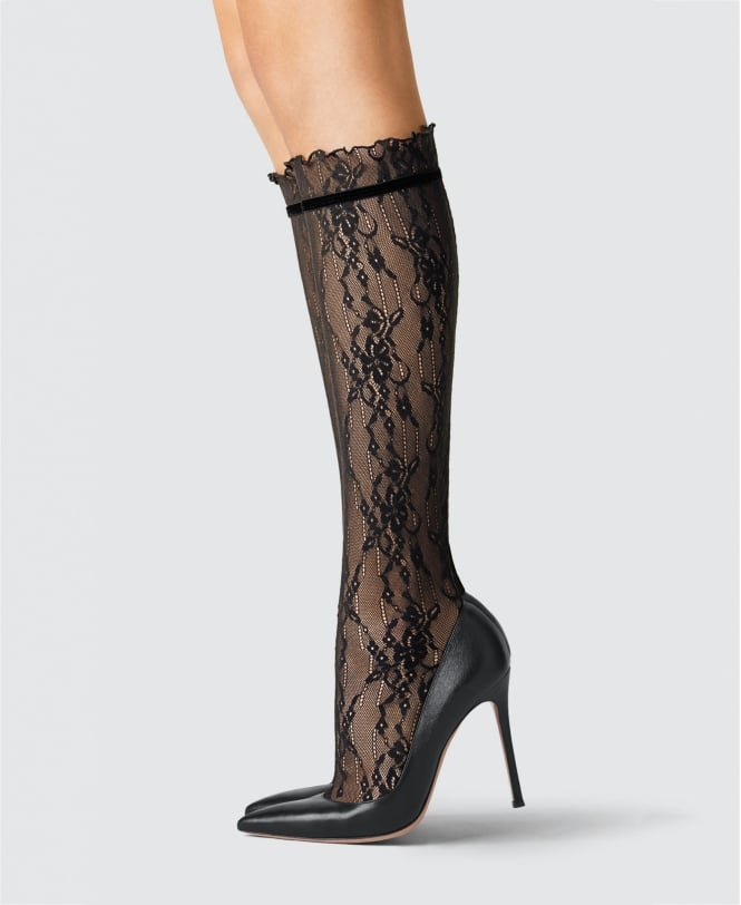 Fogal Romantic Lace Knee-Highs
