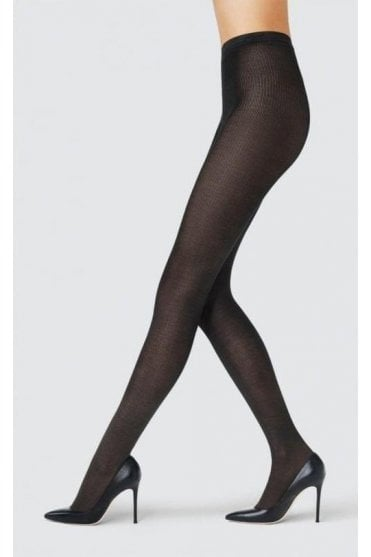 Seta Precieuse Silk Ribbed Tights
