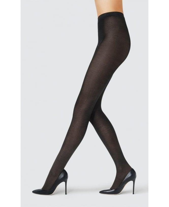 Fogal Seta Silk Ribbed Tights