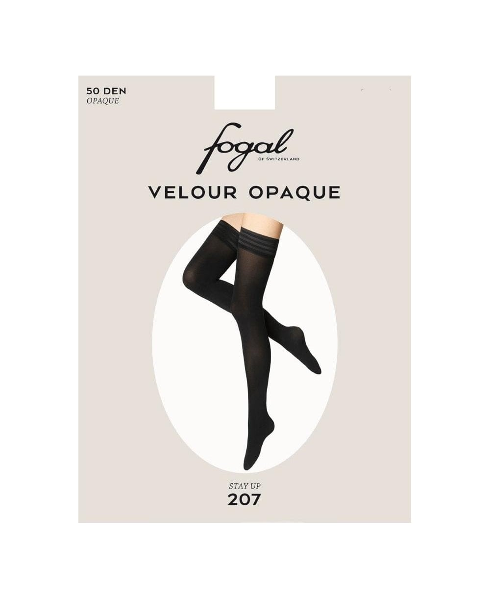 0d0f0817c2e Fogal Velour Opaque 50 Denier Stay-Ups - Hold-Ups from luxury-legs ...