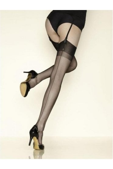 Carnation Seamed Stockings