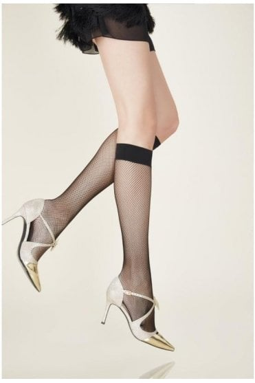Resille Fishnet Knee-Highs