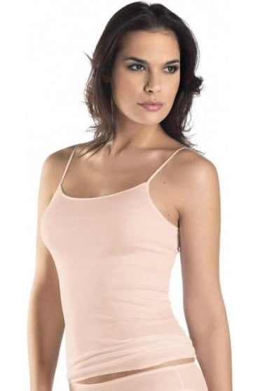 Cotton Seamless Scoop Neck Spaghetti Top