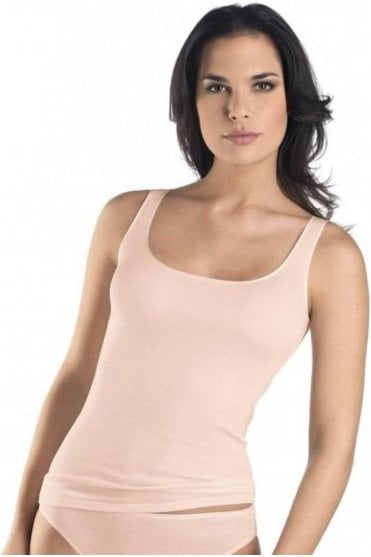 Cotton Seamless Scoop Tank