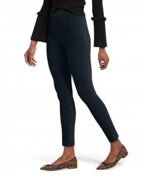 67ea6d4c903 HUE Faux Leather Trim Ponte Legging - Leggings from luxury-legs.com UK
