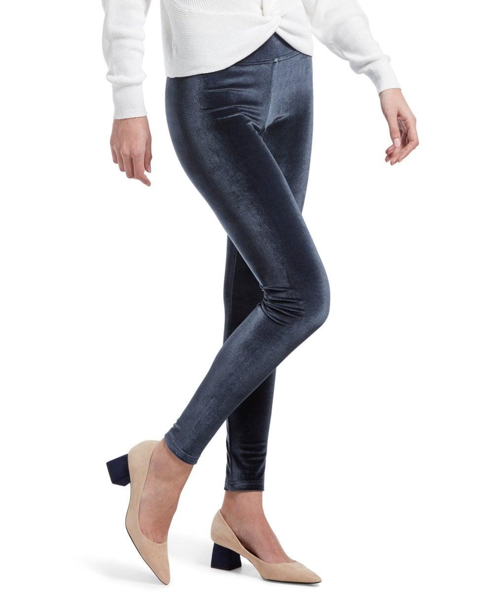 11dc6a27317 HUE Wide Waistband Velvet Legging - Leggings from luxury-legs.com UK