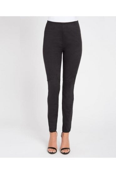 High Waist Suede Effect Legging