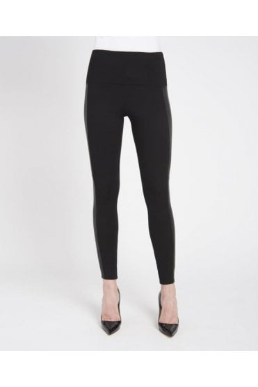 Ponte Vegan Leather Legging