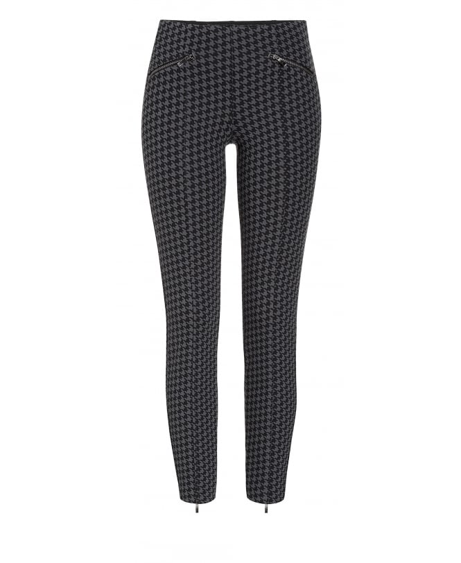 MAC Dream Ankle Luxury Houndstooth Trousers