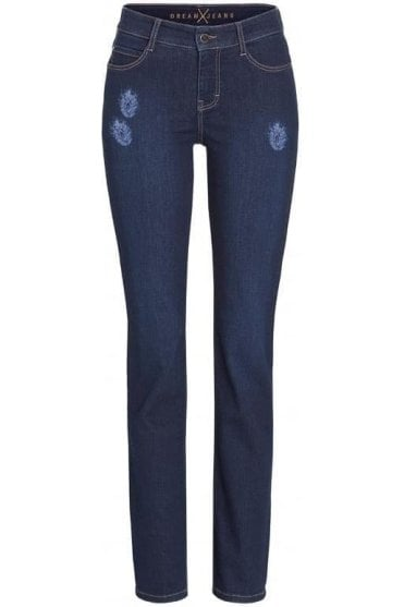 Dream Straight Exotic Feather Jean