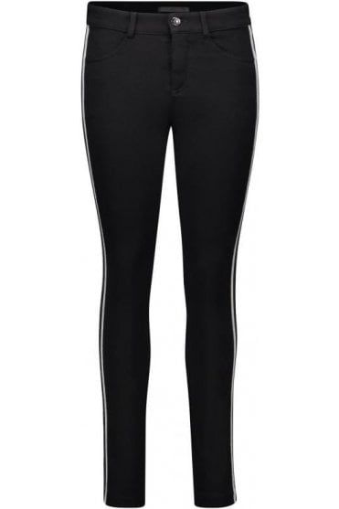 Metallic Side stripe Cosima Jersey Trousers