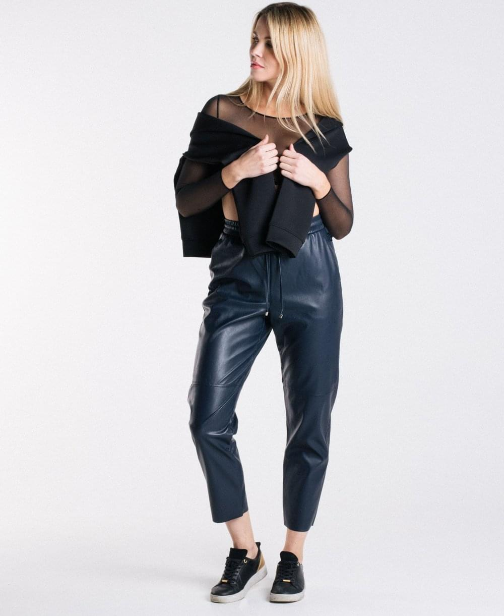 5cac24c6a3532 MaxMara Celso Faux Leather Trousers - Leggings from luxury-legs.com UK