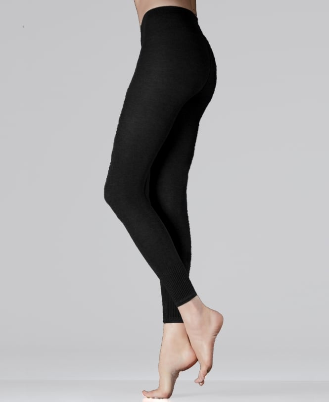 MaxMara Dattero Ribbed Cuff Leggings