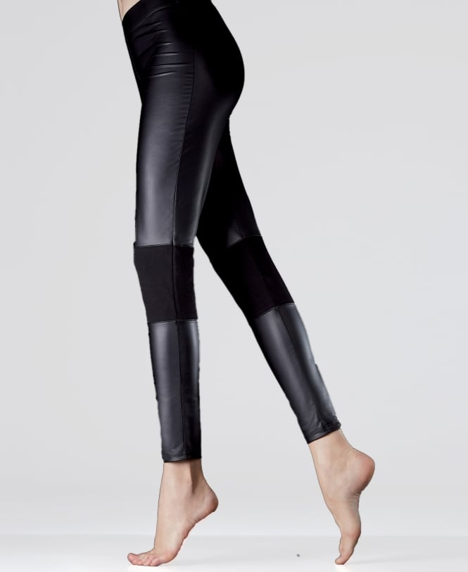 MaxMara Etere Leather and Jersey Leggings