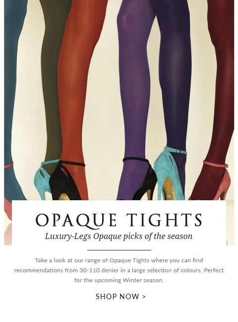 Opaque Tights Hosiery Edit