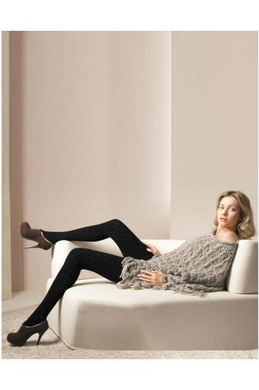 Renee Cable-Knit Cotton Tights