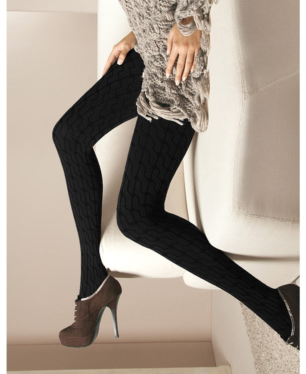 261ba6fdb Oroblu Renee Cable-Knit Cotton Tights - Tights from luxury-legs.com UK