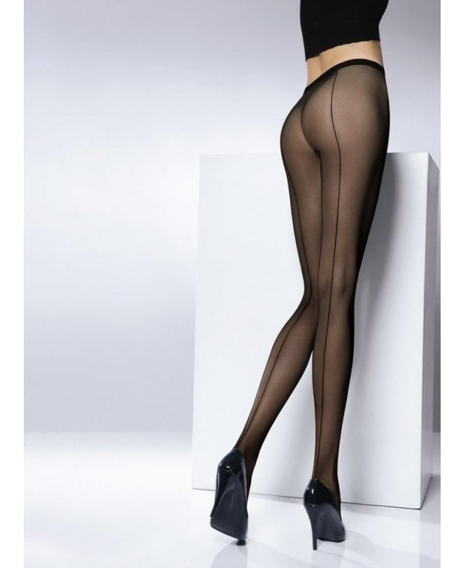 Pierre Mantoux Tulle Seamed Tights