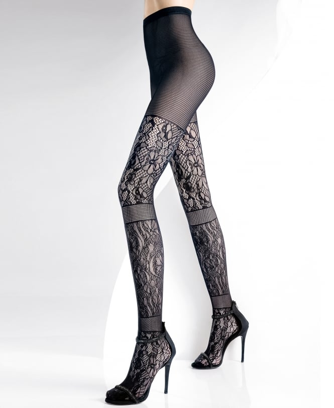 Pierre Mantoux Vanity Lace Patchwork Tights