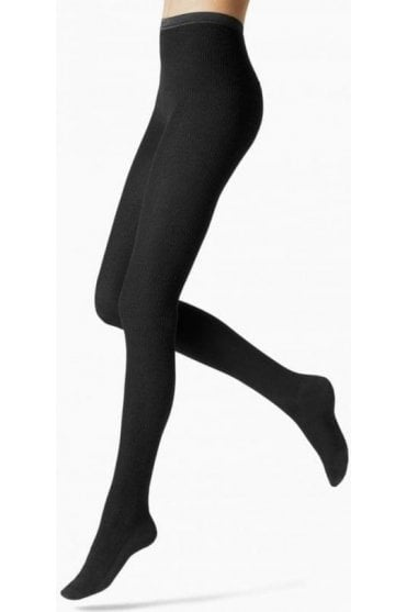 Nepal Fine Ribbed Wool, Silk & Cashmere Tights
