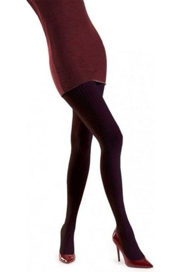 Nikki Ribbed Wool & Cotton Tights