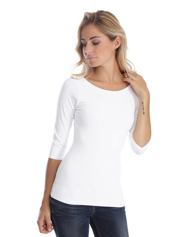 Rendez-Vous Paris Doris 3/4 Sleeve Boat Neck Top