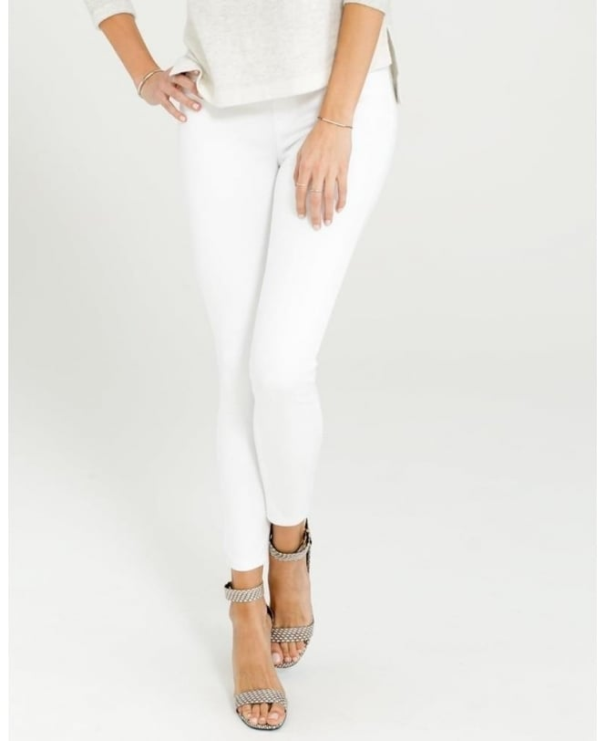 Spanx Cropped White Leggings
