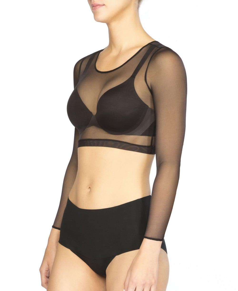 92c56309f0161 Spanx Sheer Fashion Mesh Crop Top - Clothing from luxury-legs.com UK