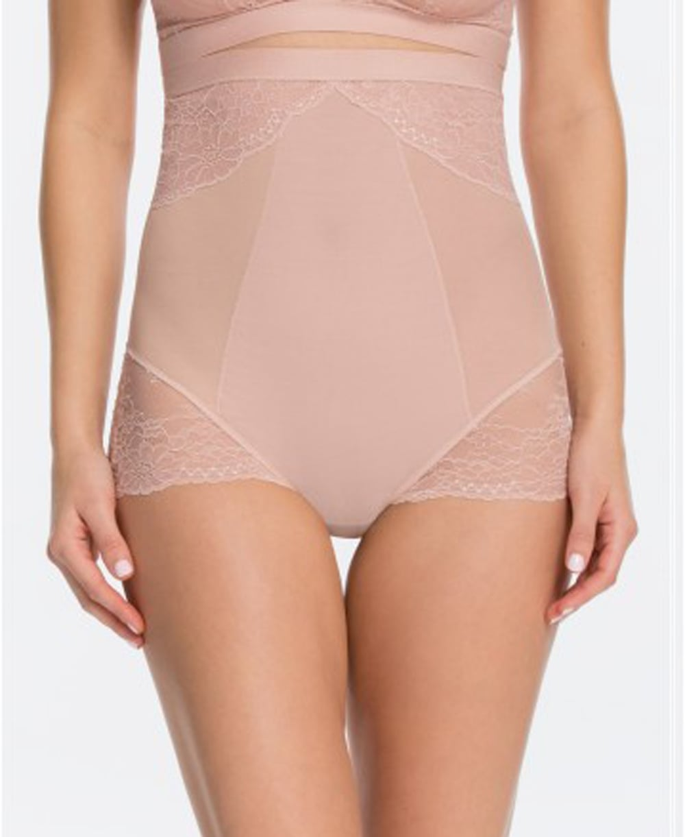 ea7178b8c122 Spanx Spotlight On Lace High-Waisted Brief - Shapewear from luxury-legs.com  UK