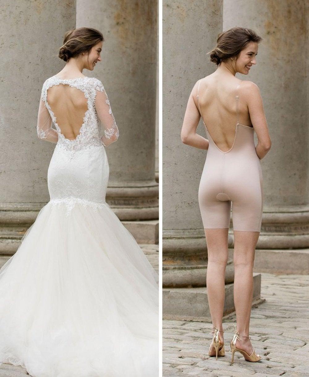 d7ff49286f3 Spanx Suit Your Fancy Plunge Low-Back Mid-Thigh Bodysuit - Shapewear ...