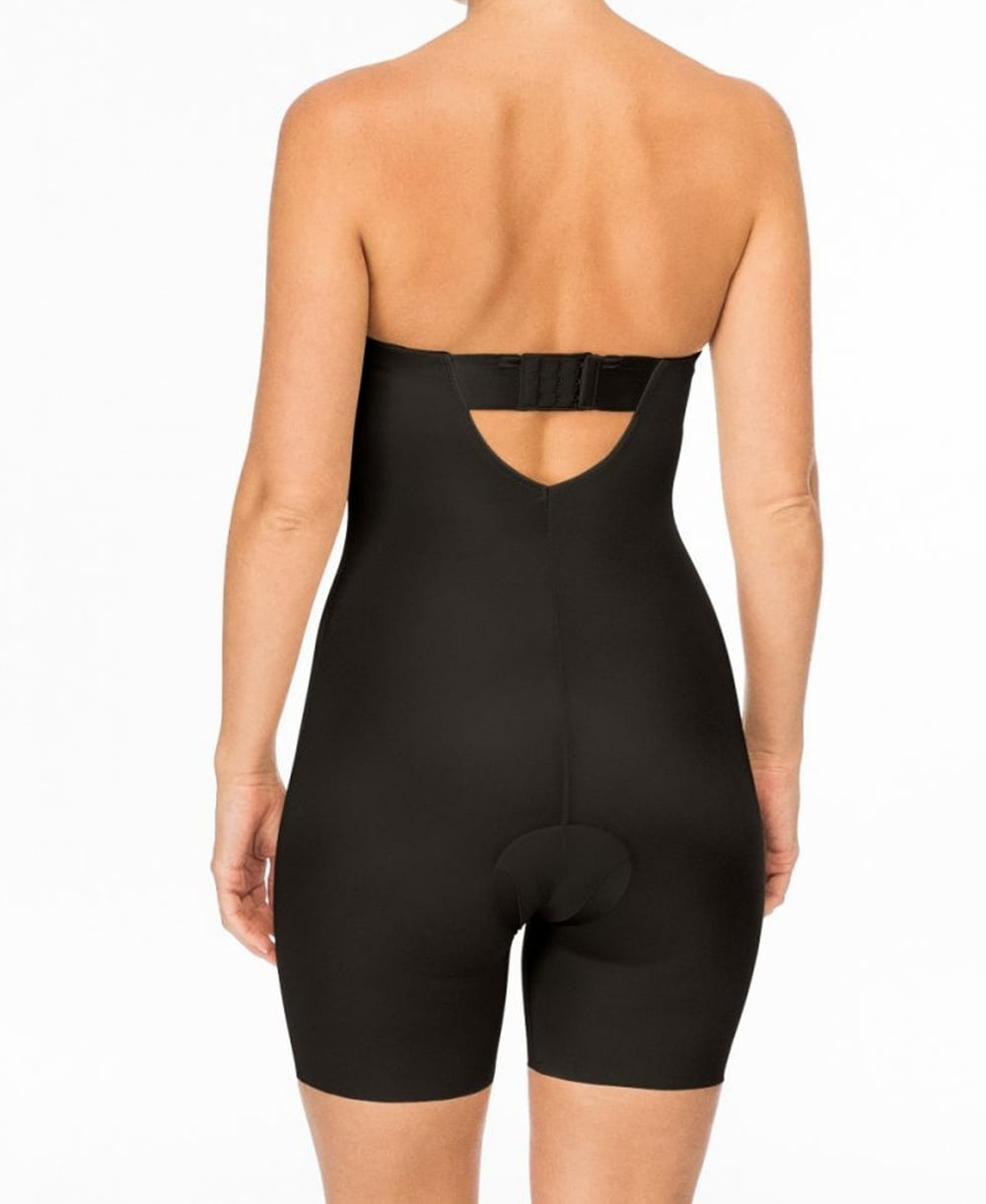 3997cf5ebc Spanx Suit Your Fancy Strapless Cupped Mid-Thigh Bodysuit ...