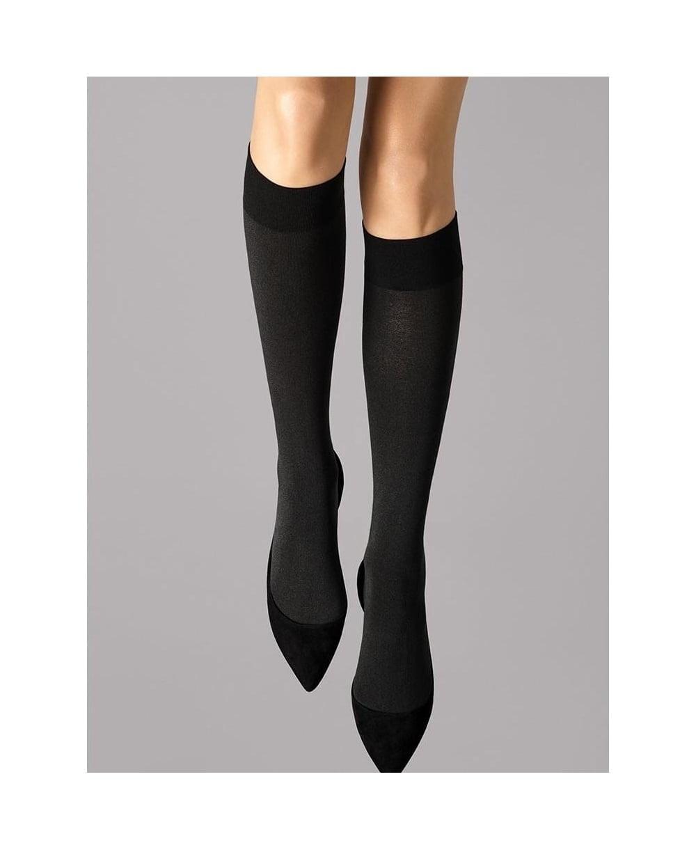 fd41a53b698 Wolford Cotton Velvet Knee-Highs - Socks from luxury-legs.com UK