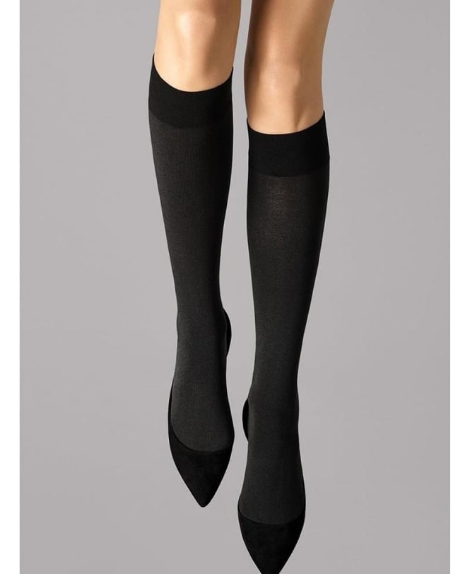 Wolford Cotton Velvet Knee-Highs