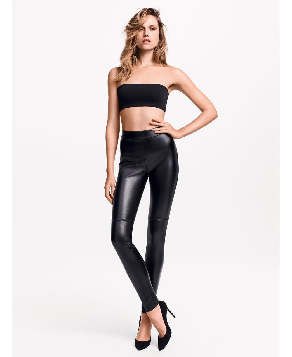 620579e4514f4 Wolford Estella Leather Look Leggings - Leggings from luxury-legs.com UK