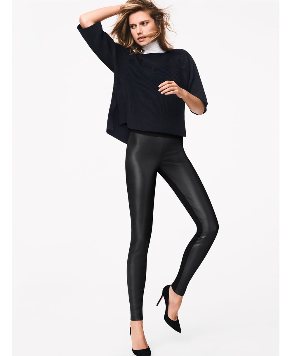 94e7ef4729ba2 Wolford Lindsey Faux Leather Front Leggings
