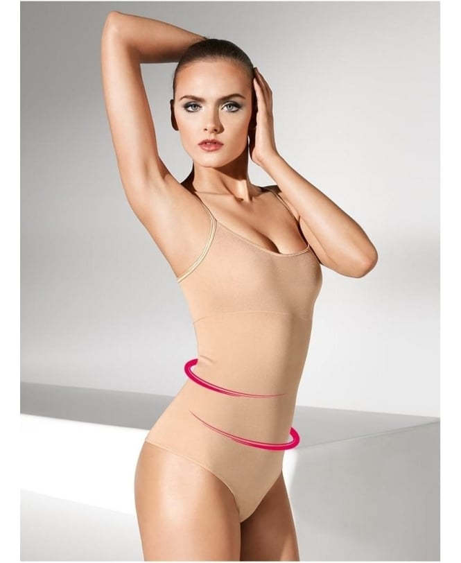 Wolford Opaque Naturel Forming String Body