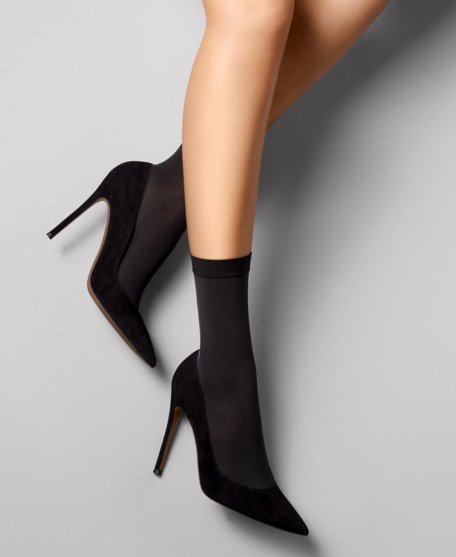 Wolford Satin Opaque Nature Socks