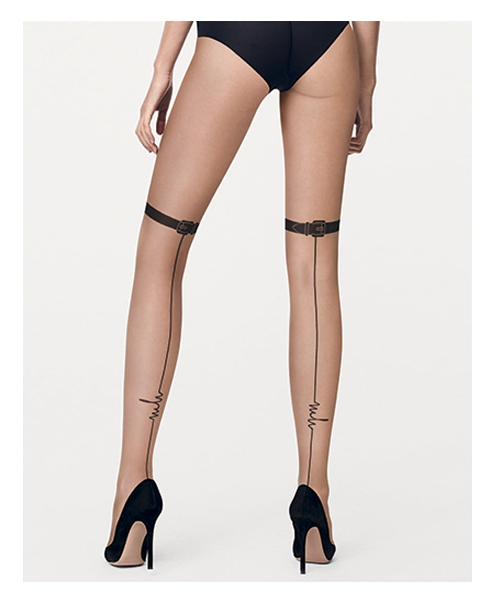 bb3094bcc3b Wolford W+MH Buckle Signature Tights - Tights from luxury-legs.com UK